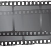 Film cut. A close up of a piece of film in black Royalty Free Stock Image