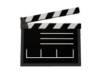 Film cut. 3d illustration of film cut isolated over white Stock Photography