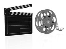 Film. 3d illustraton of Film reels for video Royalty Free Stock Image