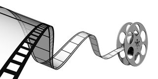 Film. 3d illustraton of Film reels for video Royalty Free Stock Image