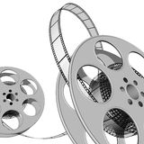 Film. 3d illustraton of Film reels for video Royalty Free Stock Photo