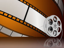 Film. 3d illustraton of Film reels for video Stock Photography