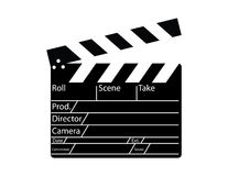 film de directeur de clapperboard Photos libres de droits