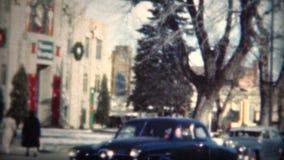 (film de 8mm) église 1949 de Noël de Boulder le Colorado banque de vidéos