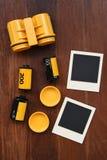 Film de photo avec des cadres de photo Image stock