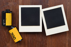 Film de photo avec des cadres de photo Photographie stock