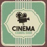Film de film de projecteur de vintage d'affiche de cinéma illustration stock