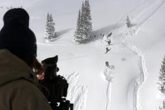 Film de ski photographie stock