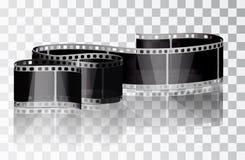 Film del pacco su un fondo trasparente Immagine Stock