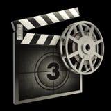 Film della scheda di applauso e della pellicola Fotografie Stock Libere da Diritti