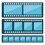 Film design. Over white background, vector illustration Royalty Free Stock Images
