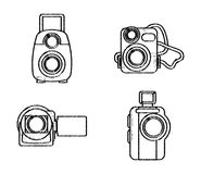 Film design. Over white background, vector illustration Royalty Free Stock Photography