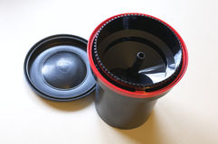 Film Developing Tank and Lid Royalty Free Stock Images