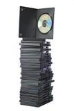 Film di DVD in contenitori di imballaggio fotografia stock