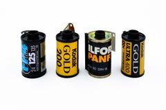Film di Kodak e di Ilford 35mm Fotografia Stock Libera da Diritti
