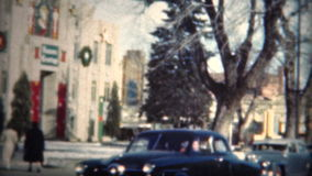 (film di 8mm) chiesa 1949 di Natale di Boulder Colorado video d archivio