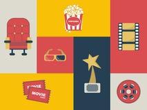 Film die voor ontwerp wordt geplaatst stock illustratie