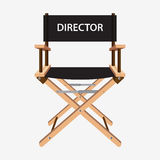 Film director chair. Wooden movie director chair. Vector  illustration  on white background Stock Images