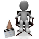 Film Director Character Shows Hollywood Directors Or Filmmaker. Film Director Character Showing Hollywood Director Or Filmmaker Royalty Free Stock Image