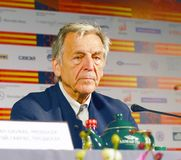Film Director Costa Gavras Stock Photos