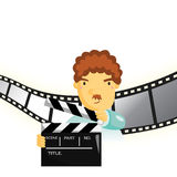 Film Director. File format is eps 10 Stock Images