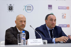 Film director Fyodor Bondarchuk and producer Alexander Rodnyansky Royalty Free Stock Photos