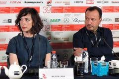 Film director Lana Wilson at 39th Moscow International Film Festival stock photo