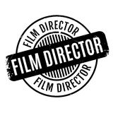 Film Director rubber stamp. Grunge design with dust scratches. Effects can be easily removed for a clean, crisp look. Color is easily changed Royalty Free Stock Images