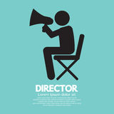Film Director Symbol. Graphic Vector Illustration Royalty Free Stock Image