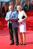 Film director Vladimir Khotinenko with his wife Royalty Free Stock Photography