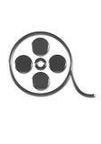 Film dish. Under the white background royalty free illustration