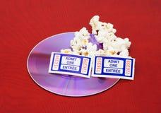 Film e popcorn fotografia stock libera da diritti