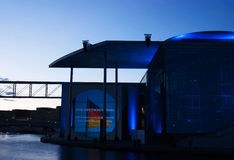 Film e spettacolo di luci a tedesco Bundestag Fotografie Stock