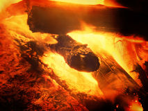 Film effect. Wood exploded in fire, texture fire bonfire embers Royalty Free Stock Images