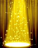 Film- eller teatergardin Fotografering för Bildbyråer
