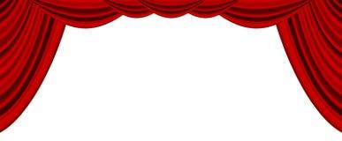 Film- eller theatregardin Arkivbild