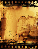 Film Emulsion. Film strip with oozing emulsion with a back lit atmosphere Stock Image