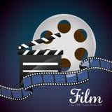 Film en bioskooppictogrammen Stock Afbeelding