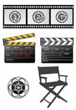 Film equipments. Film equipment set Stock Photography