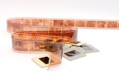 Film et glissières Photos stock