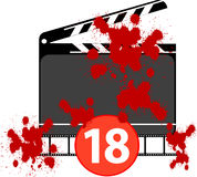 Film with explicit scene. Illustration for film with explicit scene Stock Images