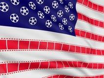 film för 2 flagga Arkivfoto