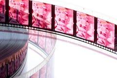 film för färg 35 millimeter Arkivfoton