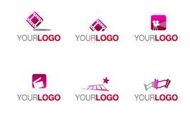 film för logo för filmindustri royaltyfri illustrationer
