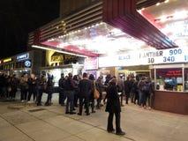 Film för svart panter på uptownen på natten Royaltyfri Bild