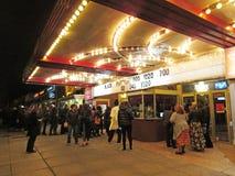 Film för svart panter på Uptownfilmbiografen Royaltyfri Fotografi