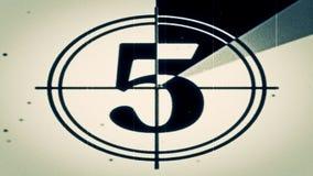 Film-Führer Count-down Frame Five Stockbilder