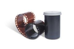 Film für analoge Fotos. Behälter Lizenzfreie Stockfotografie
