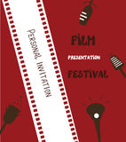 Film festival banner - retro Royalty Free Stock Photography