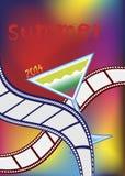 Film Festival. Poster for film festivals.Vector illustration Royalty Free Stock Images